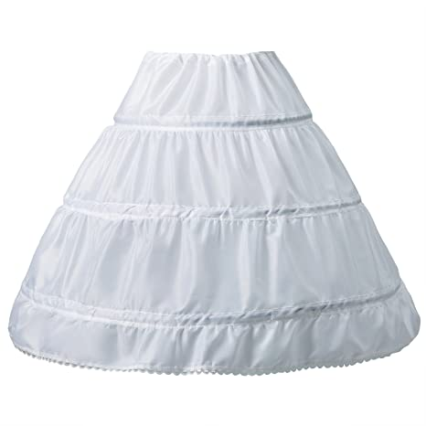 Girls Underskirt, 3 Hoop Petticoat White, One Size A-line Children ...