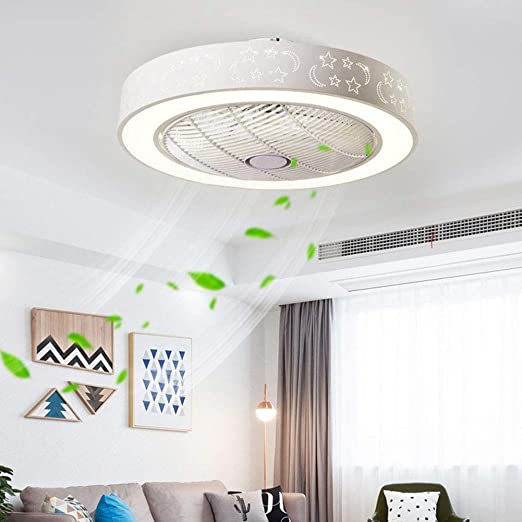 XDDY Ventilador Techo con Luz LED Ceiling Fan Correa Regulable ...