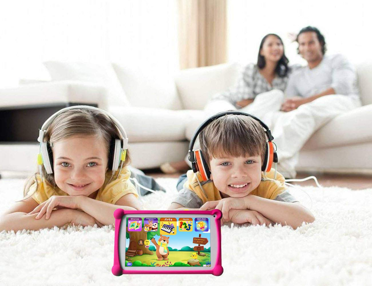 Kids Tablet, B.B.PAW 7 inch 1G+8G Android Tablet with Additional 120+ English Preloaded Apps-Candy Pink by B.B.PAW  (Image #6)
