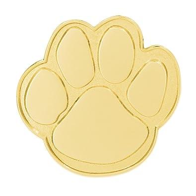 PinMart Gold Animal Paw Print School Mascot Lapel Pin