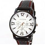 SAMGU caoutchouc de silicone Montres Man Army Mens Watch Sport de haute qualité montre-bracelet de couleur en noir et blanc