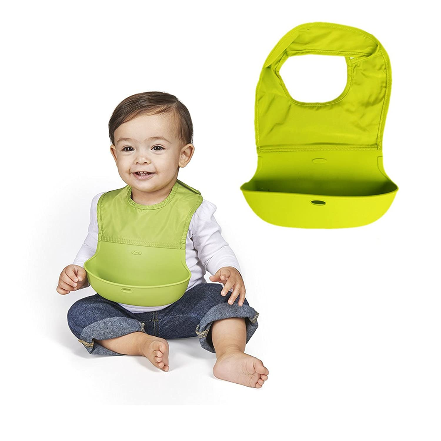 Amazon KINGSUNG Soft Silicone Pocket Baby Bib Chilly Toddler