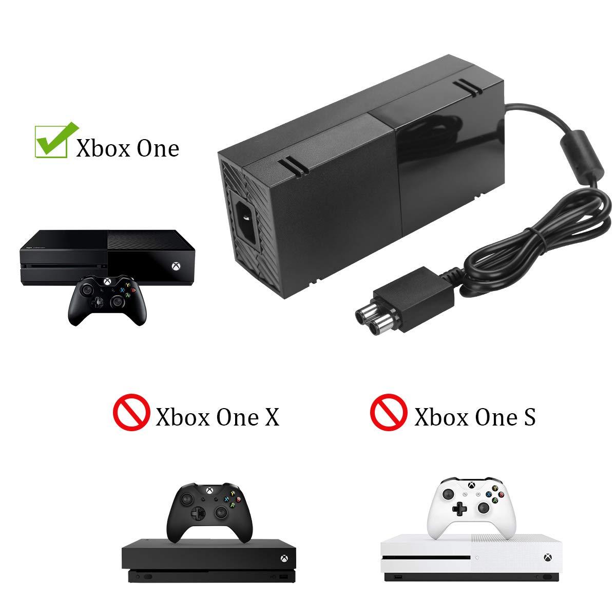 Amazon.com: Cable de alimentación para Xbox One con cable de ...