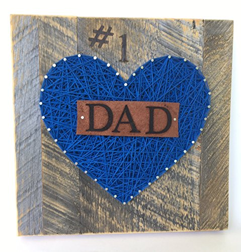#1 Dad Nail String Art sign for the best dad ever! A special and unique gift for Father's Day from the kids. Great Birthday and just because gift.