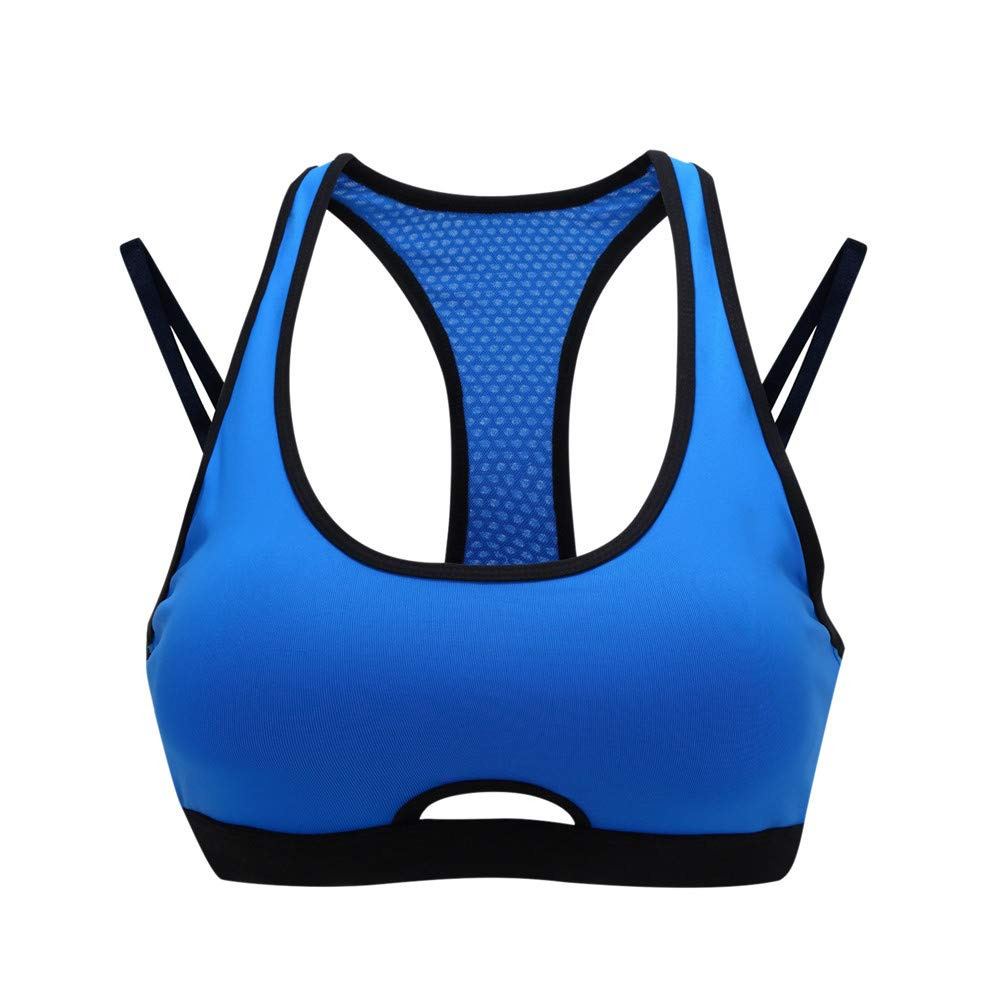 f651ce06d4d8 Yandam Women's Gathered Sports Bra Without Traces Without Rim Underwear Vest(Green  M) at Amazon Women's Clothing store: