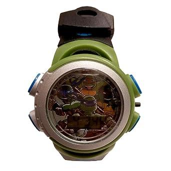 TMNT tortugas Ninja negro banda luz hasta Digital reloj ...