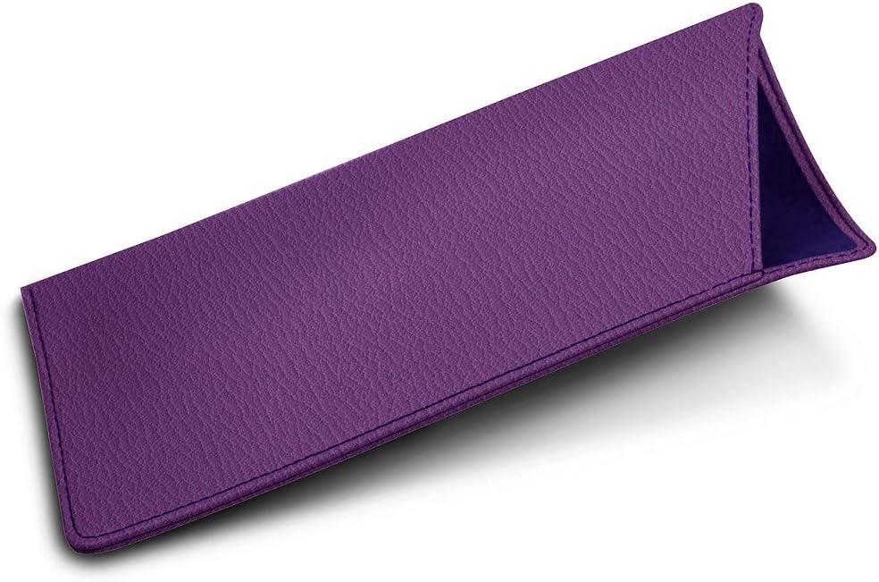 Lucrin - Estuche para Gafas tamaño estándar - Violeta: Amazon.es: Electrónica