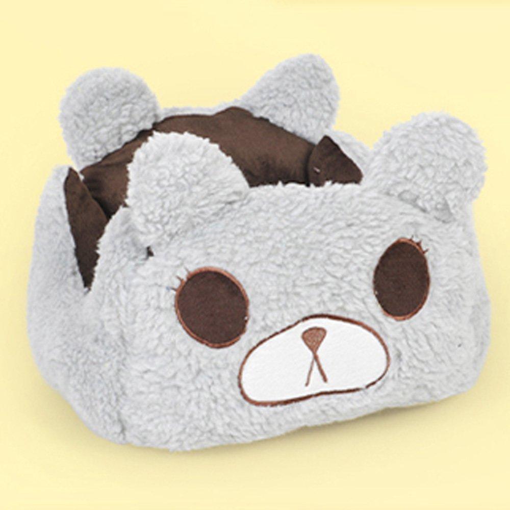 2-M554022cm Huangyingui Grey, Brown, Pet Bed Plush Soft And Comfortable Square Pet Bed Detachable (S M L) (Size   2-M5540  22cm)