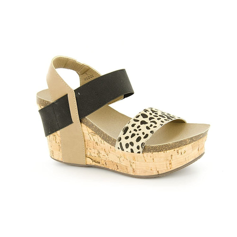 Corkys Footwear Womens Corky s Wedge 6 Cheetah