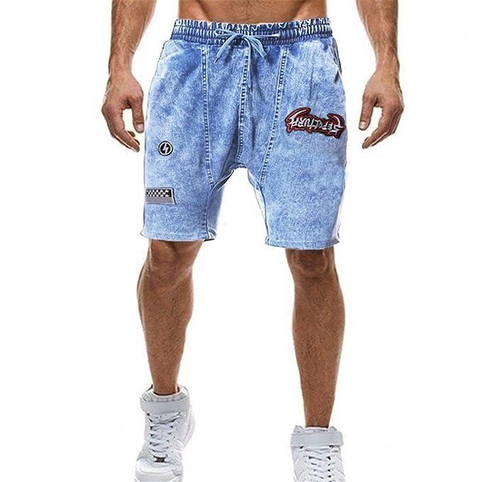 Pantalón Corto Slim para Hombre,Hombre Pantalón Corto ...