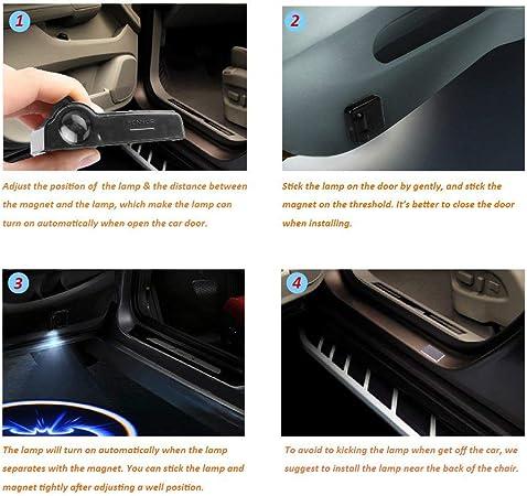 Led Auto Projektor 2 Stück Autotür Willkommen Batman Muster Schatten Licht Universal Drahtlose Wireless Magnetisch Sensor Schatten Logo Licht Für Autotür Auto