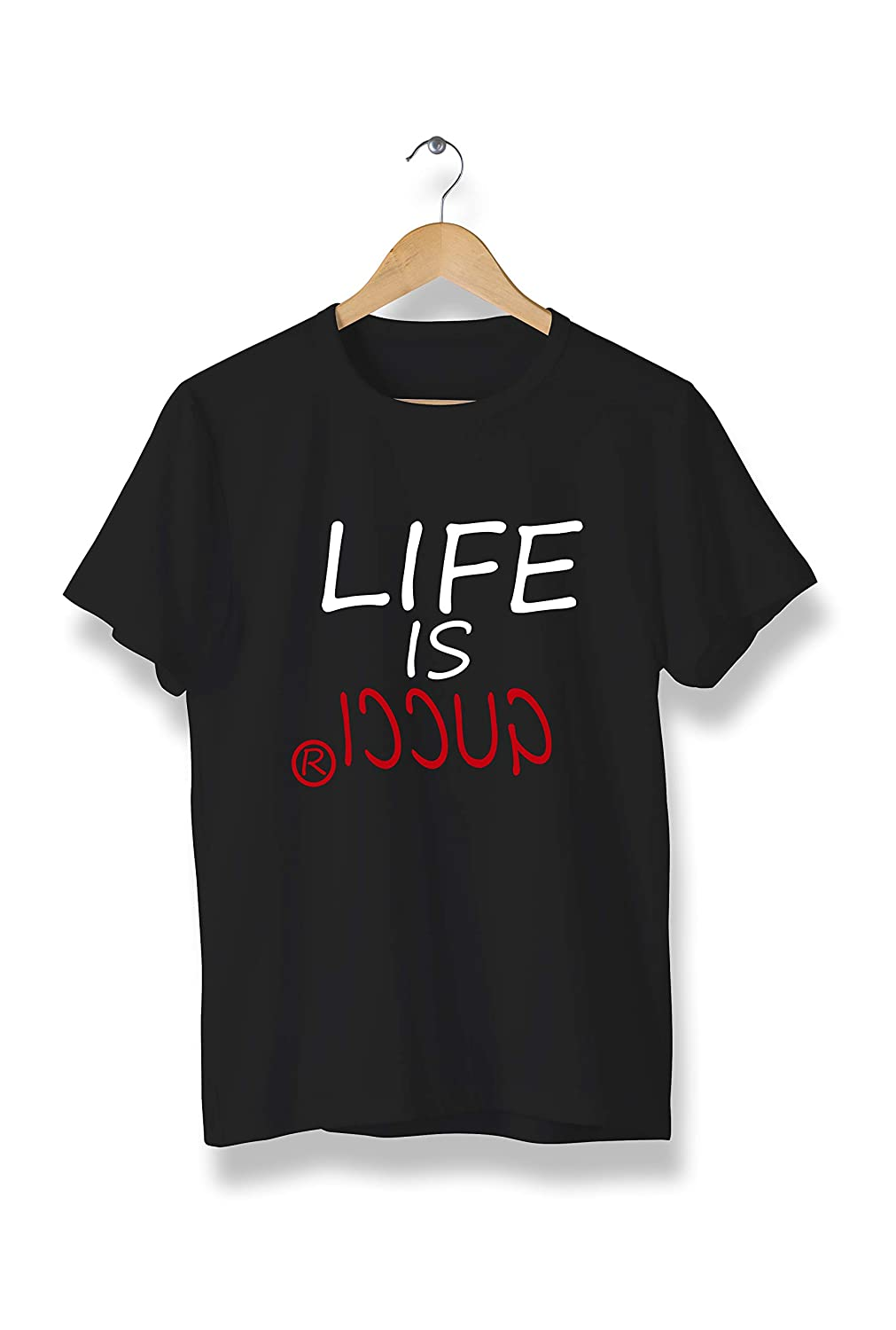 3eb55e49 Amazon.com: Life is Gucci Quote t-Shirt - Tees Unisex for Any Occasion -  Modern tees T-Shirt, Modern Cool Tees Unisex (Y01) Black: Clothing