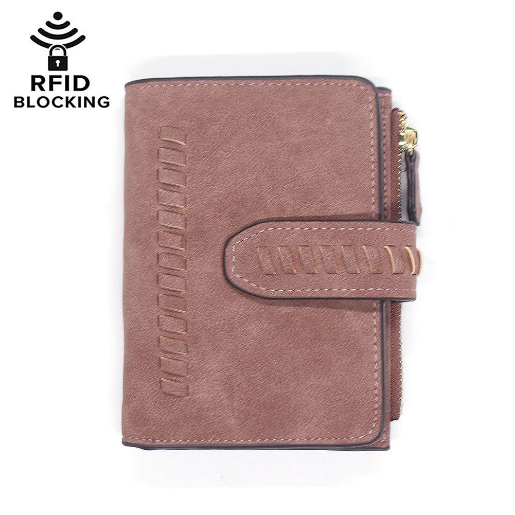 Womens Girls PU Leather Wallet Short Clutch Card Holder Cute Change Zipper Ladies Travel Mini Coin Purse (#5-Coffee) by Hilinker
