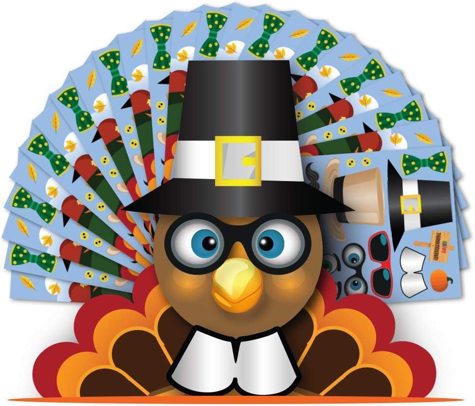 Colonel Pickles Novelties Make A Turkey Sticker Kits Halloween Thanksgiving Fall Crafts Kids