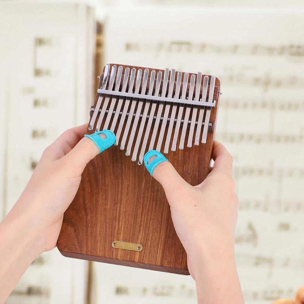 17 keys Kalimba Thumb Piano kit,Portable Thumb Piano Pterocarpus Erinaceus Wooden Body with Tuning Hammer,Pickup,Decorative Tassel Chain,Tremolo chain,Carry Bag by Yosoo- (Image #3)