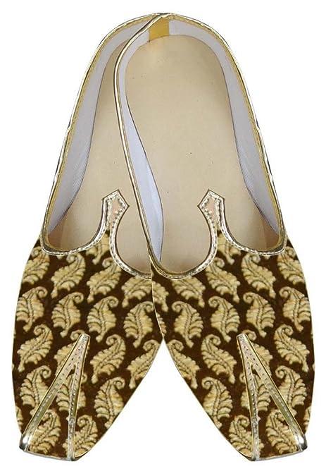 INMONARCH Hombres Boda Zapatos Brocado Dorado MJ0019: INMONARCH: Amazon.es: Zapatos y complementos