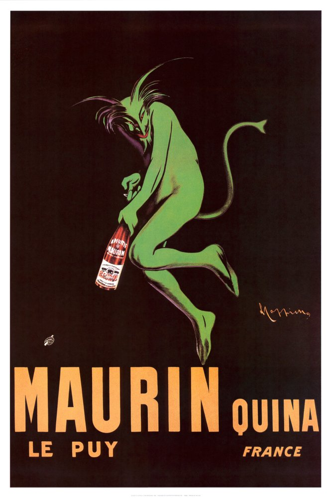 Amazon.com: Maurin Quina 1920 Poster 24 x 36in: Absinth Poster ...