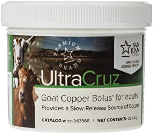 UltraCruz Goat Copper Bolus Supplement for Adults, 25 Count x 4 Grams (Limited Edition)