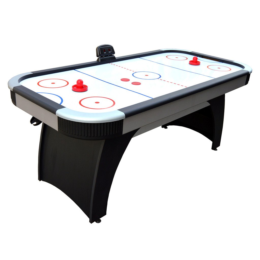 Hathaway Silverstreak 6-Foot Air Hockey Game Table for Family Game Rooms with Electronic Scoring, Black by Hathaway (Image #1)