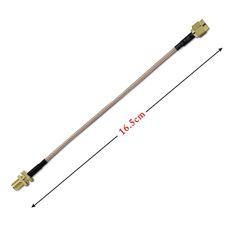 Cable de antena SMA hembra a SMA macho F/M adaptador de cable de conexión oro 2 unidades: Amazon.es: Electrónica