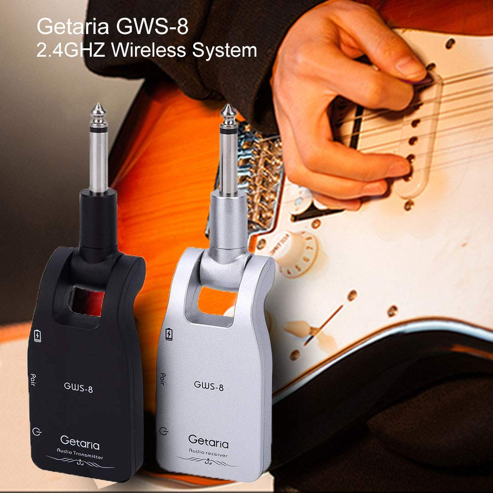 Getaria Wireless Guitar System 2.4G Rechargeable Transmitter Receiver for Electric Guitar Bass by Getaria (Image #2)
