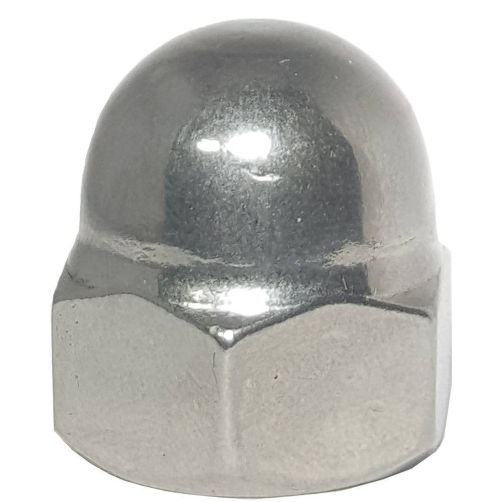 10-24 Acorn Cap Nuts, Stainless Steel 18-8, Standard Height, Plain Finish, Quantity 50
