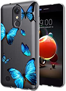 Zoeirc for LG Aristo 3/Aristo 2 Plus/Aristo 3 Plus/Tribute Dynasty/Tribute Empire/Fortune 2/Rebel 3 LTE Case, Clear Soft TPU Shockproof Protective Phone Case Cover for LG Aristo 2 (Butterfly)