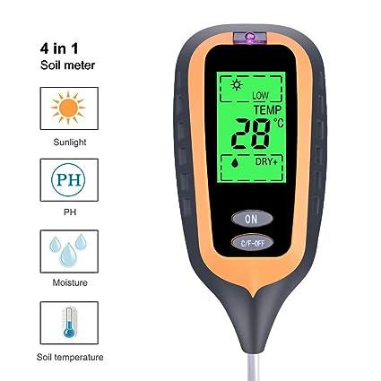 ZDYLM-Y Medidor de Humedad del Suelo 4 en 1 Detector de luz Medidor de