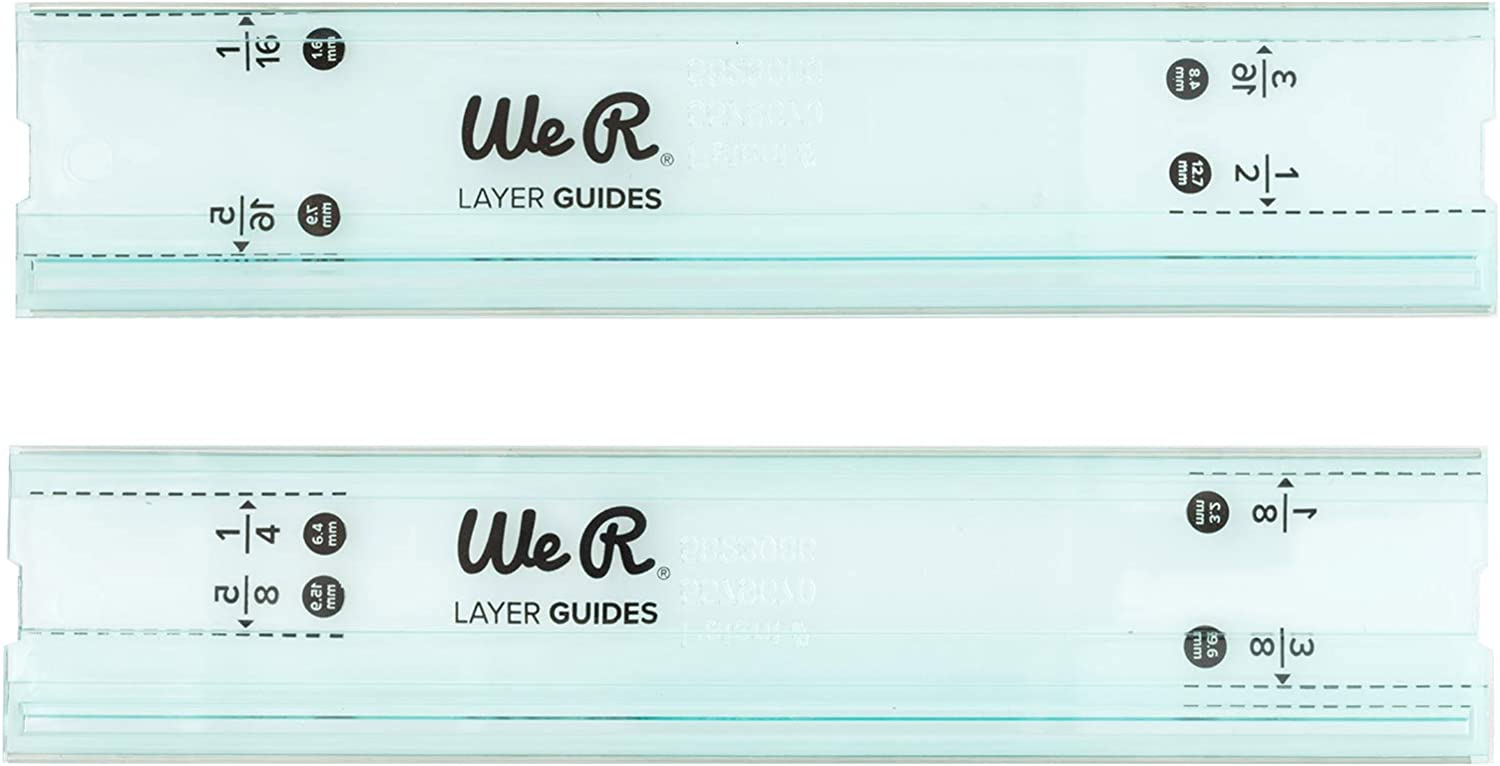 We R Memory Keepers 0633356604839 Ruler & Guide-Mini Layer Guides (2 Piece), Multicolor