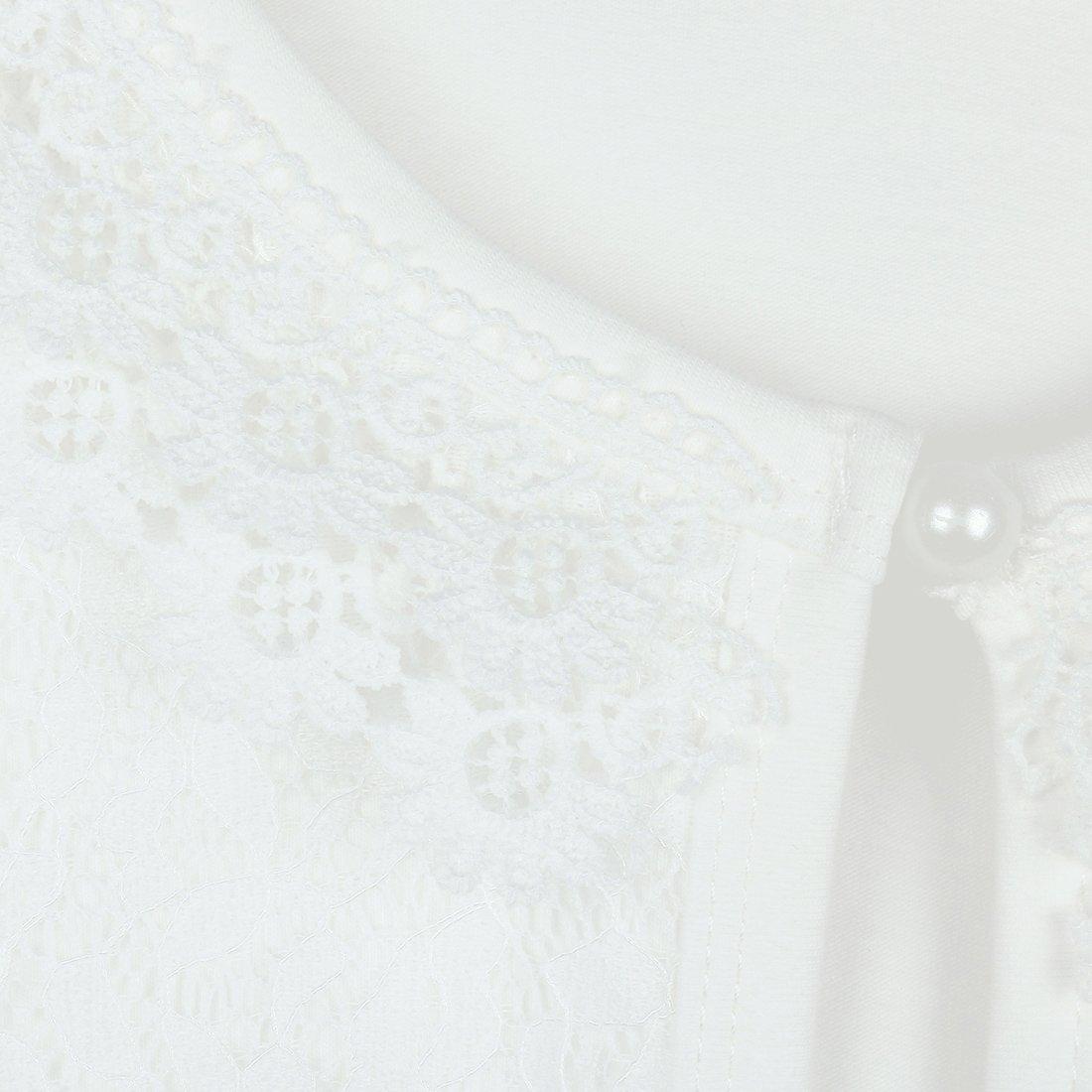 iixpin Enfant Fille Blousons Casual Veste de Mariage Manche Longue Sweat Court Dentelle Perles Florale V/êtement Anniversaire C/ér/émonie Performance 1-8 Ans