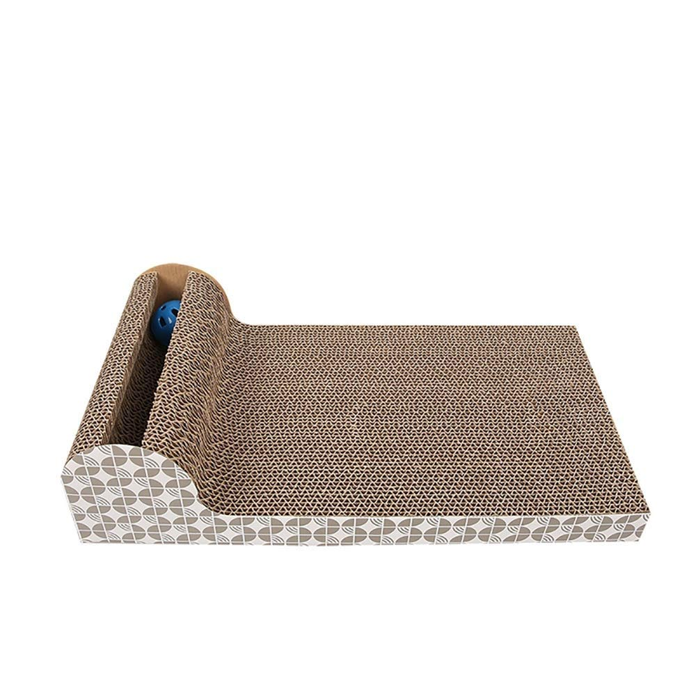 Pet Cat Toy Cat Scratch Bed Interesting Cat Interactive Toy Small Cat Corrugated Paper Pad Grinding Claw Sleeping Pet Supplies Cat Litter Entertainment Activity Center 45.5  24.5cm