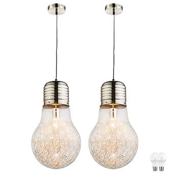 schlafzimmerbeleuchtung design bilder schlafzimmer 2er set led hänge leuchten glühbirnen glas design wohn schlaf zimmer beleuchtung decken pendel lampen