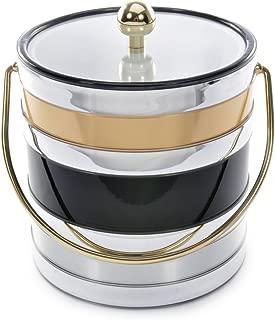 product image for Mr. Ice Bucket Black Tri Metal Ice Bucket, 3-Quart