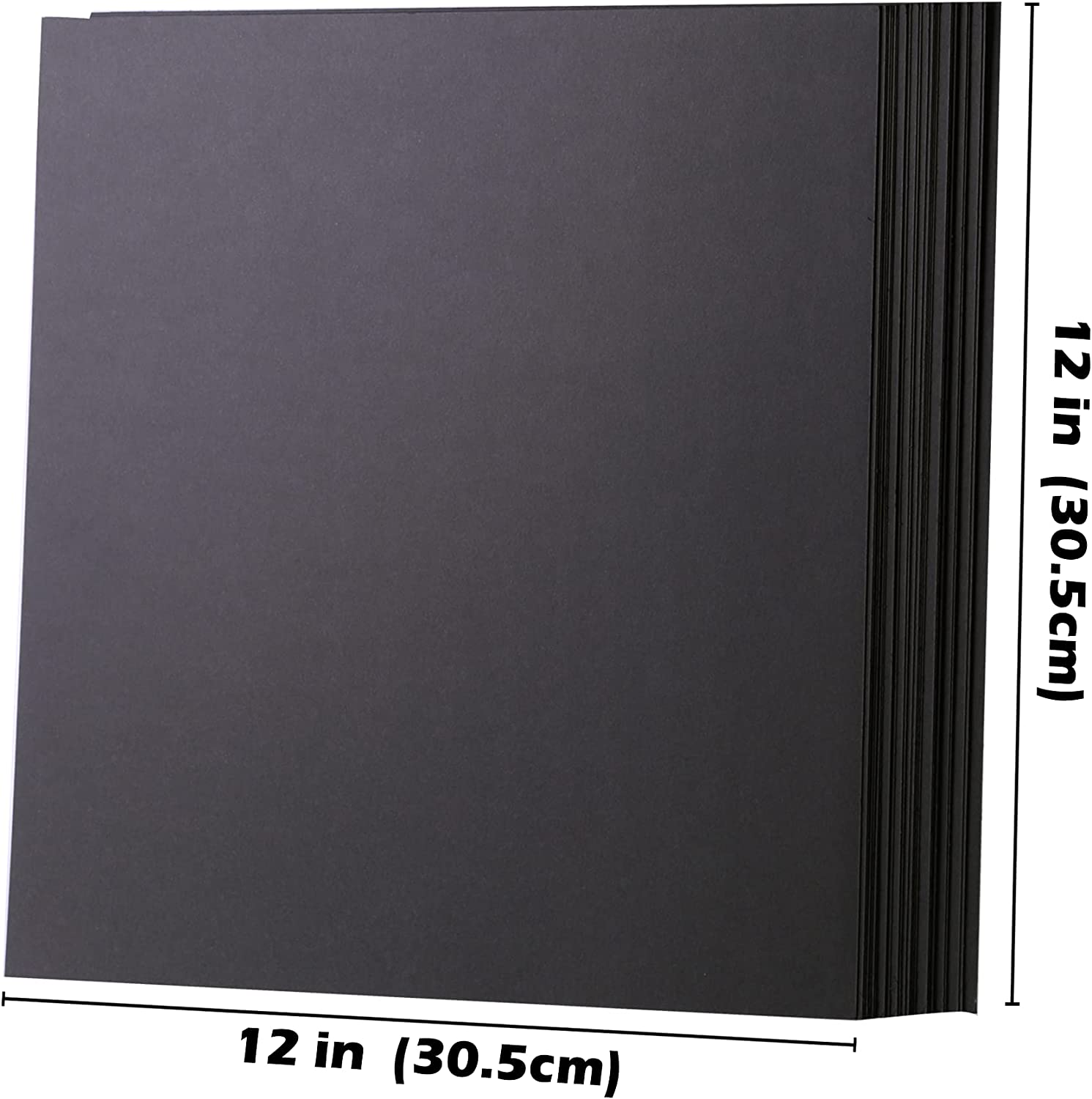 Black Cardstock - 12'' x 12'' 85lb Cover Card Stock Paper Perfect for Scrapbooking, Crafts, Business Cards 30 Sheets 230g UAP05BK : Office Products