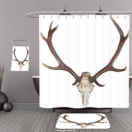 Amazon.com: Uhoo Bathroom Suits & Shower Curtains Floor Mats And ...