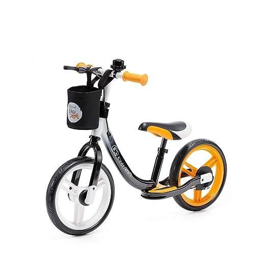 Kinderkraft Space Balance Bike Learning Bike Children S Balance Bike Walker Bike For Children Baby Children S Bike With Accessories Bell Bag For Small Items Handbrake Footrest 12 Inch Wheels From 2 Years Orange