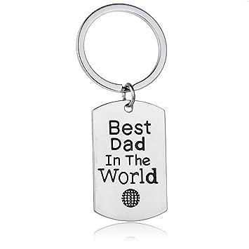 Amazon.com: Día del padre llavero – mejor papá en el mundo ...