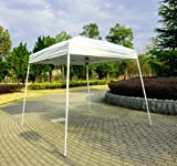 Outsunny 8′ x 8′ Slant Leg Easy Pop-Up Canopy Party Tent – Cream, Outdoor Stuffs