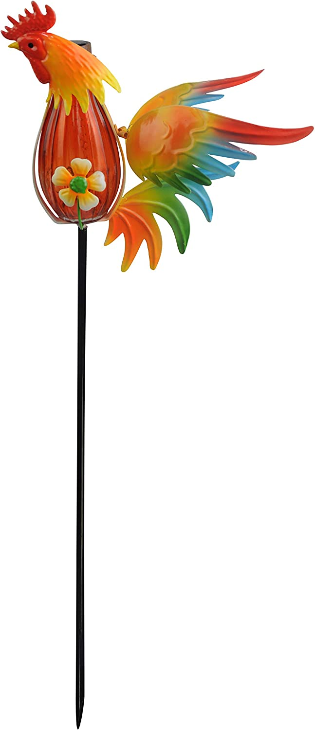 Moonrays 96343 Farmhouse Rooster Stake Light, Multi-Color