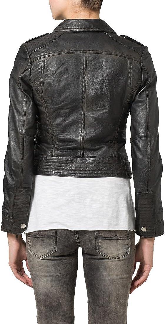 New Women Motorcycle Lambskin Leather Jacket Coat Size XS S M L XL LFWN076
