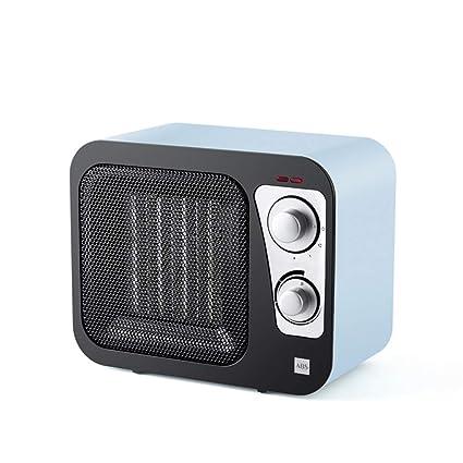 HM&DX Portátil PTC Cerámica Calefactor Ventilador, Retro Radio Calefactor eléctrico Bajo Consumo Silence 3 Ajustes
