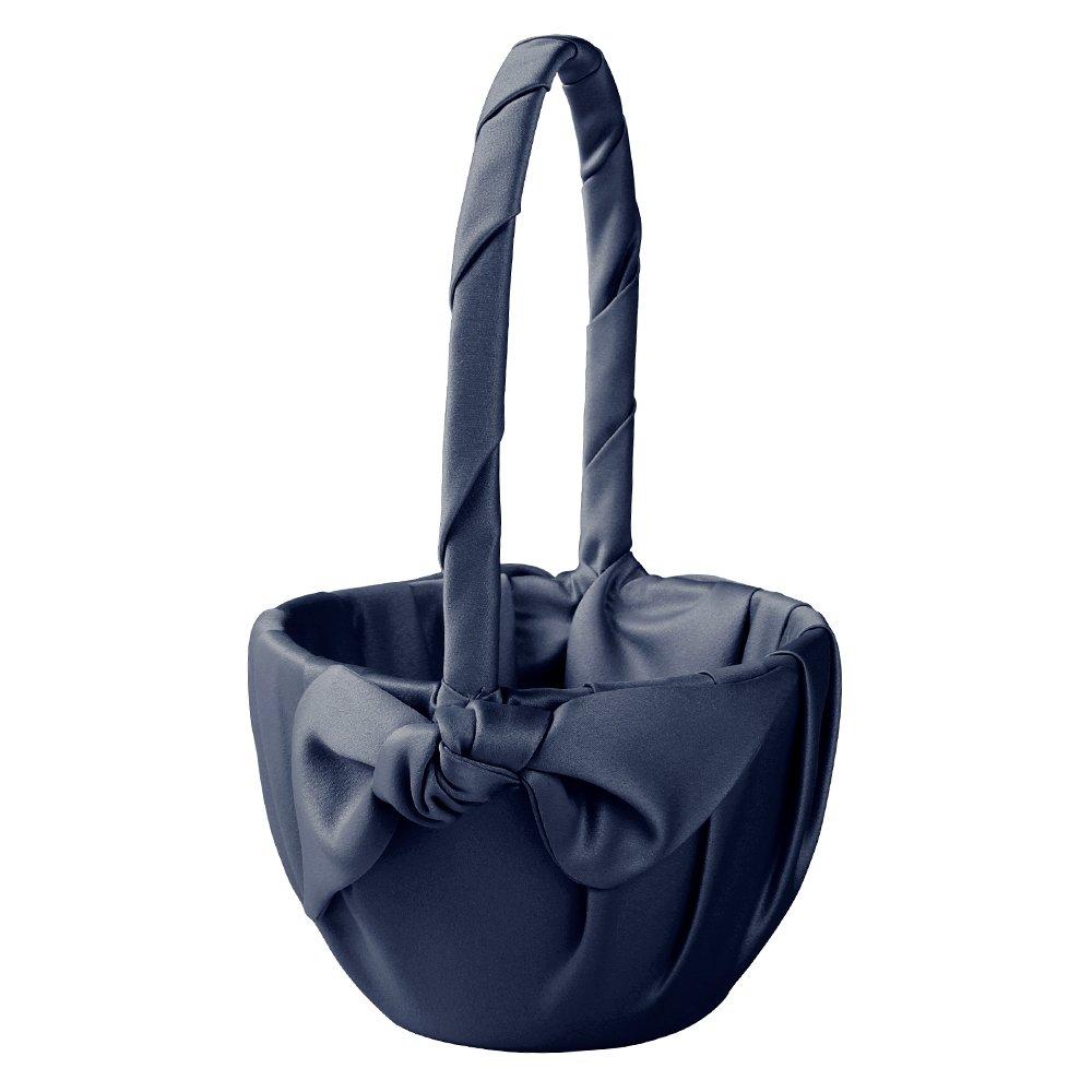 Ivy Lane Design Love Knot Flower Girl Basket, Navy