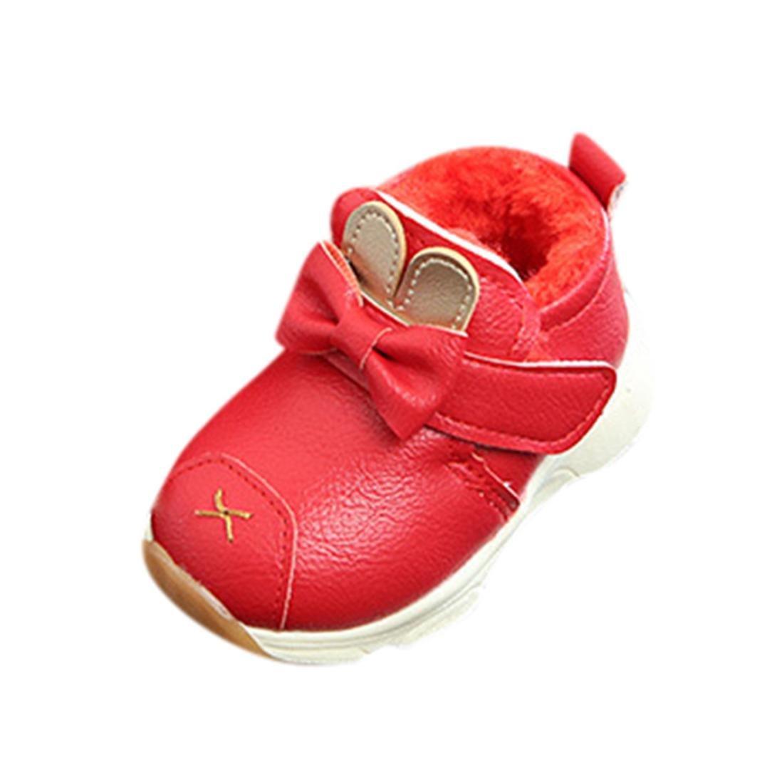 Chaussures de bébé, Fulltime®Bébé garçons filles chaudes Martin Cartoon cuir Sneaker enfants Casual Shoes