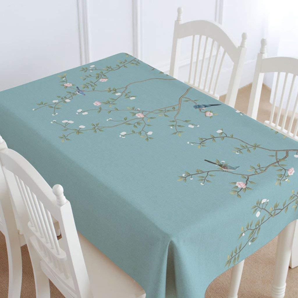 家の装飾布カバー ホームリビングルームの花綿と麻のドレッシングテーブルギャブテーブルクロスレストランダイニングテーブルテーブルクロス テーブルクロス   B07RQYVLV3