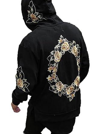 embroidered monogram hoodie