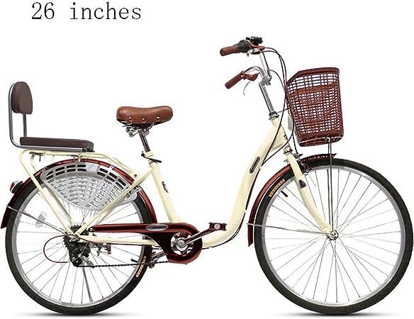 Bicicleta de montaña de 26 pulgadas para adultos Bicicleta de freno de disco doble Bicicleta de montaña rígida Bicicleta Art Deco única Scooter, Bicicleta de compras, Bicicleta de viaje junto al mar:
