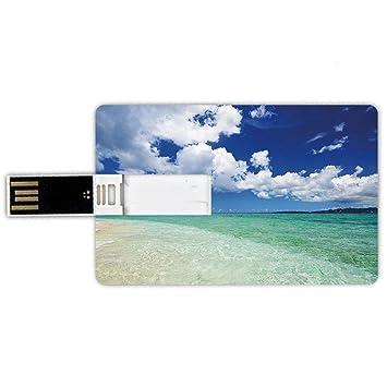 8GB Forma de tarjeta de crédito de unidades flash USB Oceano ...
