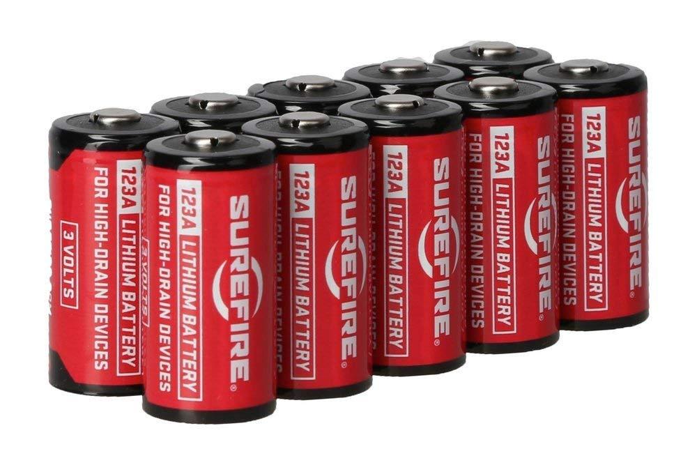 SureFire SF12-BB 123A CR123 3-Volt Lithium Batteries - 10 Pack