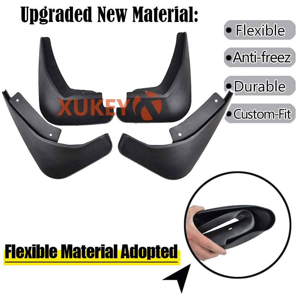 XUKEY Set Mudflaps For Fiesta Mk7 2009-2017 Mud Flaps Splash Guards Mudguards Front Rear 2010 2011 2012 2013 2014 2015 2016
