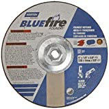 Norton Blue Fire Foundry Depressed Center Abrasive Wheel, Type 27, Zirconia Alumina